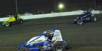 USAC 2013 Three wide for the lead